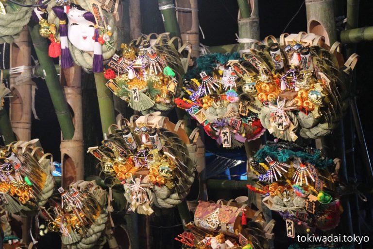 熊手市 開催場所:ときわ台 天祖神社