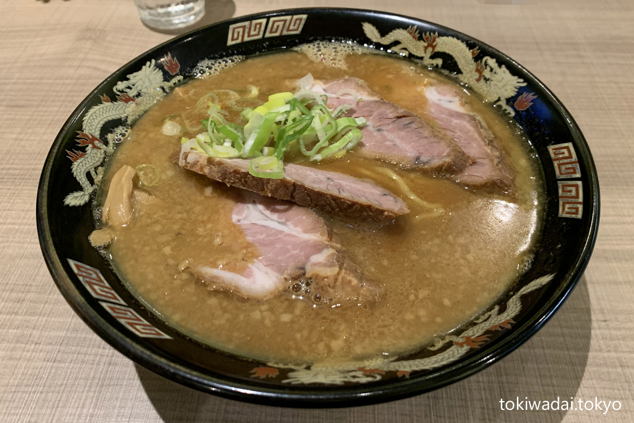 さっぽろラーメン 桑名(くわな)常盤台店、味噌チャーシュー